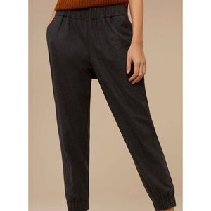 Aritzia Wilfred Turquet Pant Wool Cashmere Heather Charcoal